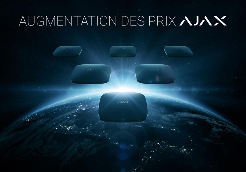 AJAX SYSTEMS augmente les prix à partir du 1er août 2021